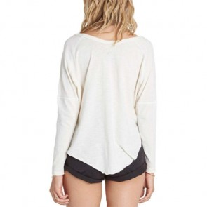 Billabong Women's Eye See Sky Long Sleeve Top - White Cap