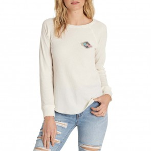 Billabong Women's Heritage Spirit Long Sleeve Top - White Cap