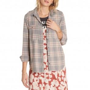 Billabong Women's Venture Out Flannel - Moody Blu