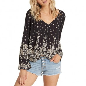 Billabong Women's Forget Me Knot Long Sleeve Top - Black