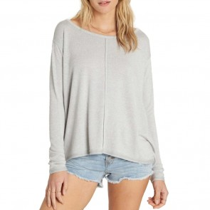 Billabong Women's From Here Long Sleeve Top - Ice Athletic Grey