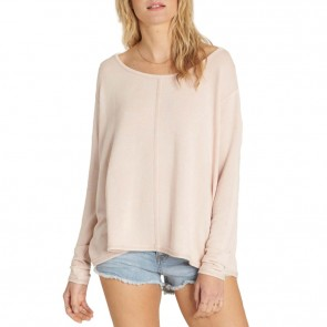 Billabong Women's From Here Long Sleeve Top - Pearl Pink
