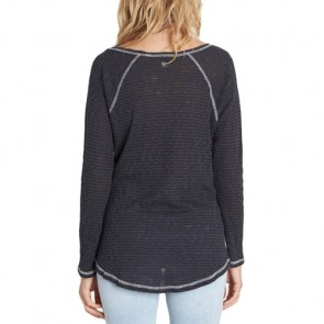 Billabong Women's Along The Way Long Sleeve Top - Black