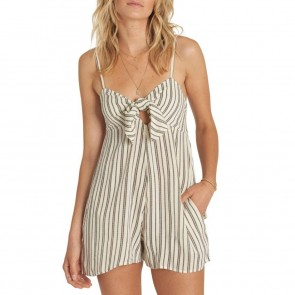 Billabong Women's Twist N Shout Romper - White Cap