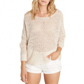 Billabong Women's Dance With Me Sweater - White Cap