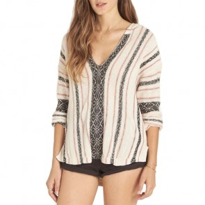 Billabong Women's Sand Dune Hooded Sweater - White Cap