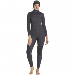 Billabong Women's Synergy 5/4 Hooded Wetsuit - Black Sands