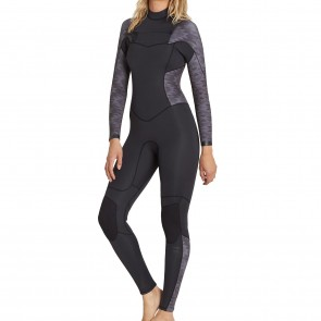 Billabong Women's Synergy 3/2 Chest Zip Wetsuit - Black