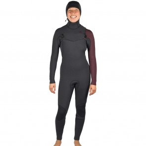 Billabong Women's Furnace Carbon 5/4 Hooded Chest Zip Wetsuit - Mulberry