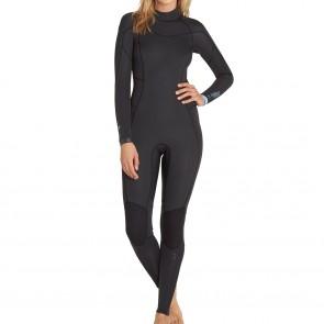 Billabong Women's Synergy 4/3 Back Zip Wetsuit - Black Sands