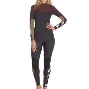 Billabong Women's Salty Dayz 4/3 Chest Zip Wetsuit - Mulberry