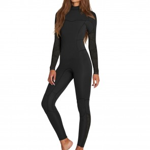 Billabong Women's Synergy 4/3 Back Zip Wetsuit - Black