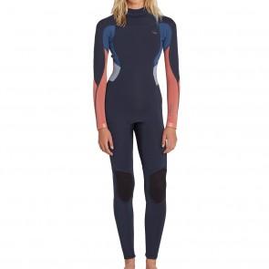 Billabong Women's Synergy 3/2 Flatlock Back Zip Wetsuit - Slate