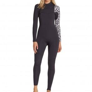 Billabong Women's Furnace Carbon Comp 3/2 Chest Zip Wetsuit - Black Sands