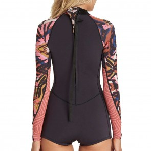 Billabong Women's Spring Fever 2mm Long Sleeve Spring Wetsuit - Tribal