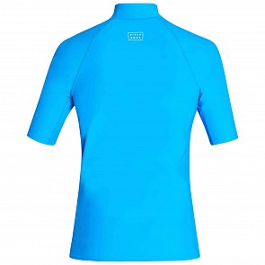 Billabong All Day Wave Performance Fit Short Sleeve Rash Guard - Royal