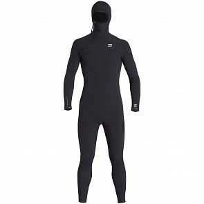 Billabong Furnace Comp 4/3 Hooded Chest Zip Wetsuit - Black
