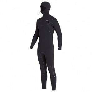 Billabong Furnace Ultra 6/5 Hooded Chest Zip Wetsuit - Black