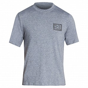 Billabong Nairobi Loose Fit Short Sleeve Rash Guard - Grey Heather