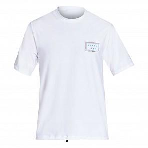 Billabong Nairobi Loose Fit Short Sleeve Rash Guard - White