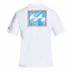 Billabong Nairobi Loose Fit Short Sleeve Rash Guard - White