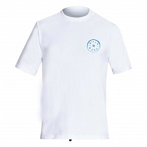 Billabong Rotohand Loose Fit Short Sleeve Rash Guard - White