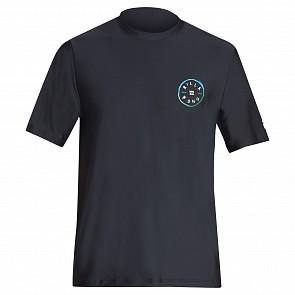 Billabong Rotohand Loose Fit Short Sleeve Rash Guard - Black