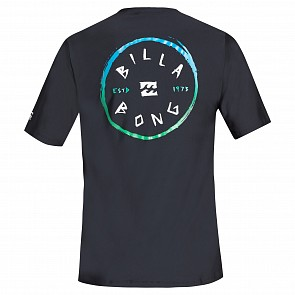 Billabong Rotohand Loose Fit Short Sleeve Rash Guard - Black