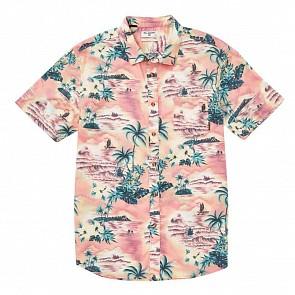 Billabong Sundays Floral Short Sleeve Shirt - Coral