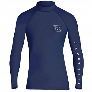 Billabong Unity Performance Fit Long Sleeve Rashguard - Navy