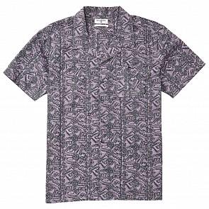 Billabong Vacay Print Short Sleeve Shirt - Haze Purple