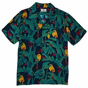 Billabong Vacay Print Short Sleeve Shirt - Navy