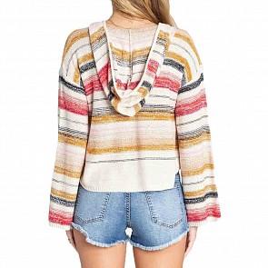 Billabong Women's Baja Beach Hooded Sweater - Havana Red