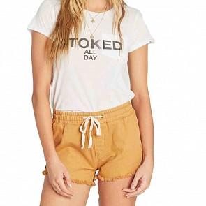 Billabong Women's Coast Line Shorts - Golden Hour