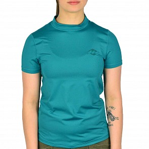 Billabong Women's Core Loose Fit Short Sleeve Rashguard - Pacific