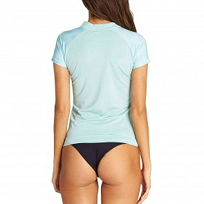 Billabong Women's Core Performance Short Sleeve Rash Guard - Seafoam