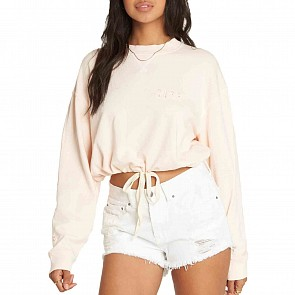 Billabong Women's Faded In The Sun Sweatshirt - Just Peachy
