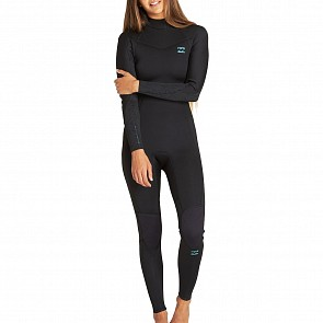 Billabong Women's Furnace Synergy 4/3 Back Zip Wetsuit - Black
