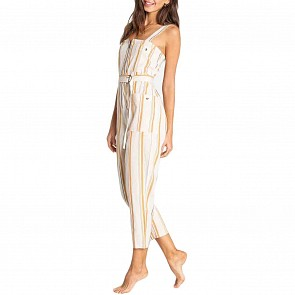 Billabong Women's Light Up The Night Jumpsuit - White Cap