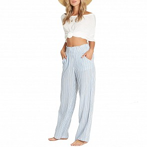 Billabong Women's New Waves Stripe Pants - Coastal Blue