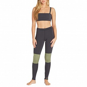 Billabong Women's Sea Legs 1mm Surf Leggings - Black Olive