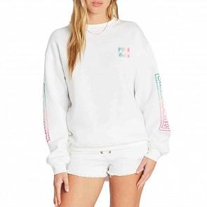 Billabong Women's White Wash Sweatshirt - White Cap