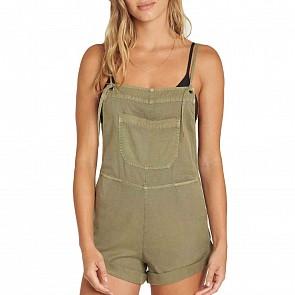 Billabong Women's Wild Pursuit Overall Shorts - Sage
