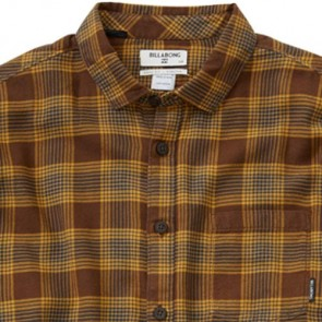 Billabong Fremont Long Sleeve Flannel - Bark