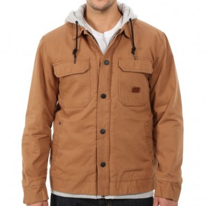 Billabong Barlow Hooded Jacket - Dark Camel