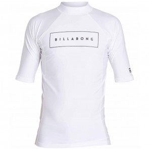 Billabong Wetsuits All Day United Performance Short Sleeve Rash Guard - White