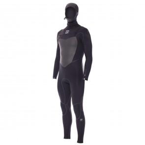 Billabong Furnace 5/4 Hooded Chest Zip Wetsuit - Black