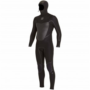 Billabong Absolute X 5/4 Hooded Chest Zip Wetsuit - Black