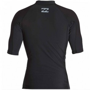 Billabong Wetsuits All Day Wave Performance Short Sleeve Rash Guard - Black