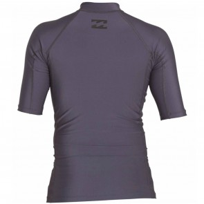 Billabong Wetsuits All Day Wave Performance Short Sleeve Rash Guard - Charcoal